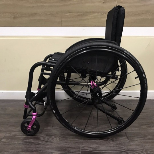 Side view of TiLite TX Folding Manual Wheelchair
