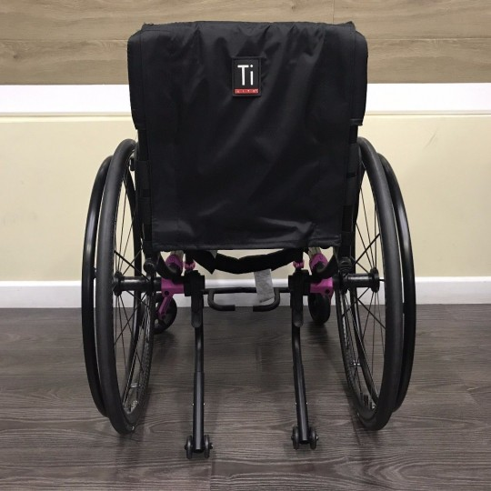 Back view of TiLite TX Folding Manual Wheelchair