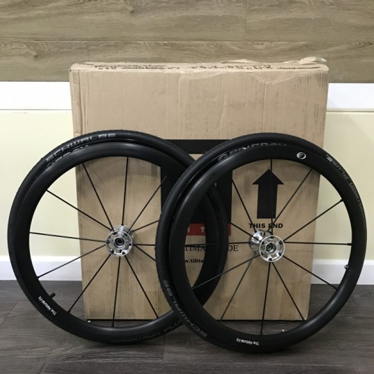 "Open Box TiLite 24"" Spinergy LX Wheels with Schwalbe Marathon Plus Tires"