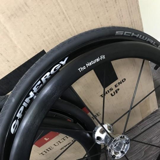 """TiLite 24"""" Spinergy LX With Schwalbe Marathon Plus Tires"""