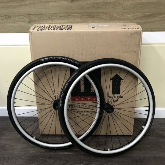 "TiLite 25"" Shadow Wheels with Schwalbe Marathon Plus Tires"