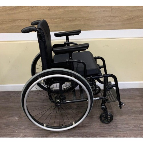 Side view of TiLite Aero X Series 2 Aluminum Folding Manual Wheelchair