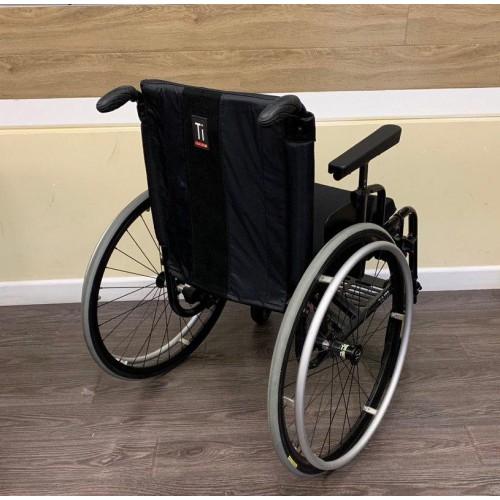 Back view of TiLite Aero X Series 2 Aluminum Folding Manual Wheelchair