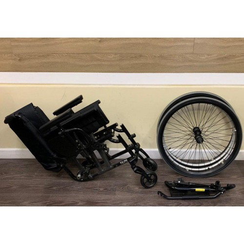 Disassembled Parts of TiLite Aero X Series 2 Aluminum Folding Manual Wheelchair