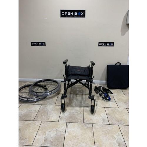 Disassembled Parts of TiLite Aero X Ultra Lightweight Folding Wheelchair