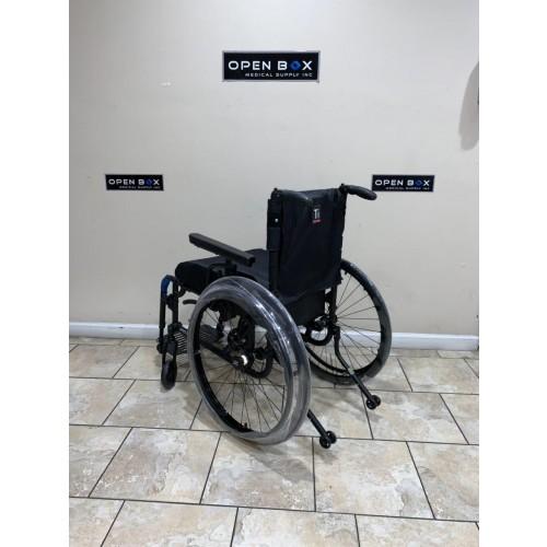 Back view of TiLite Aero X Ultra Lightweight Folding Wheelchair