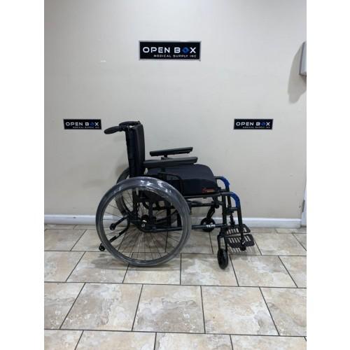Side view of TiLite Aero X Ultra Lightweight Folding Wheelchair
