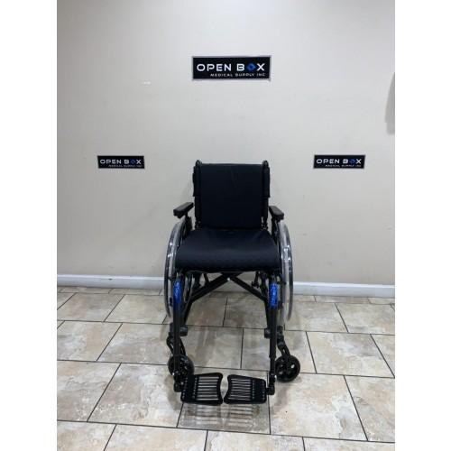 Front view of TiLite Aero X Ultra Lightweight Folding Wheelchair