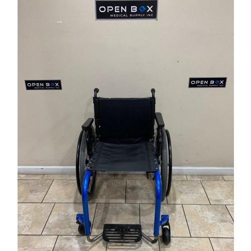 Front view of TiLite Aero Z Ultra Lightweight Wheelchair