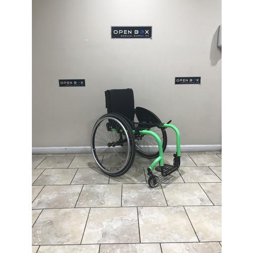 Front view of TiLite Aero Z Series 2 Ultra Lightweight Wheelchair