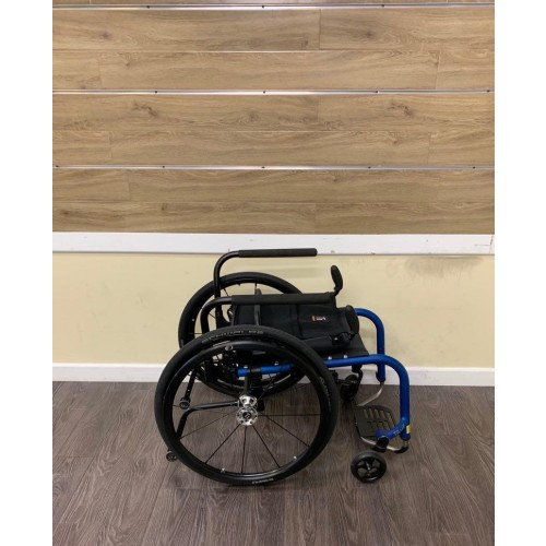 Folded TiLite Aero Z Ultra Lightweight Wheelchair