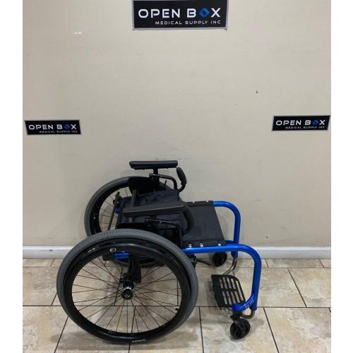 Folded TiLite Aero Z Ultra Lightweight Wheelchair