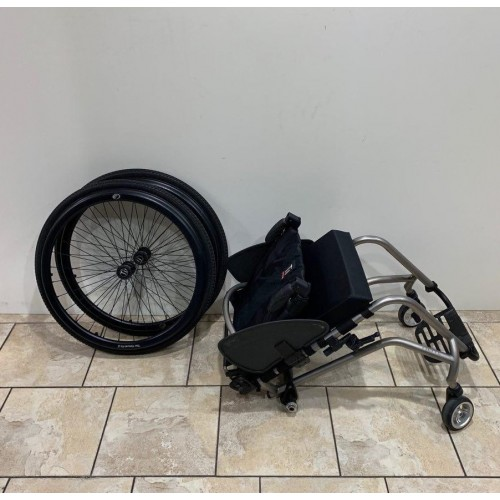 Disassembled Parts of TiLite TR Rigid Ultralight Wheelchair