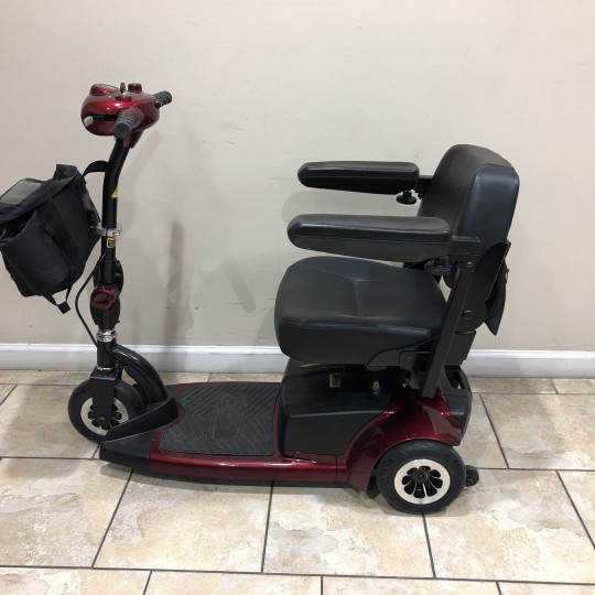 Side view of Used BladeZ Sport 3 Wheel Mobility Scooter