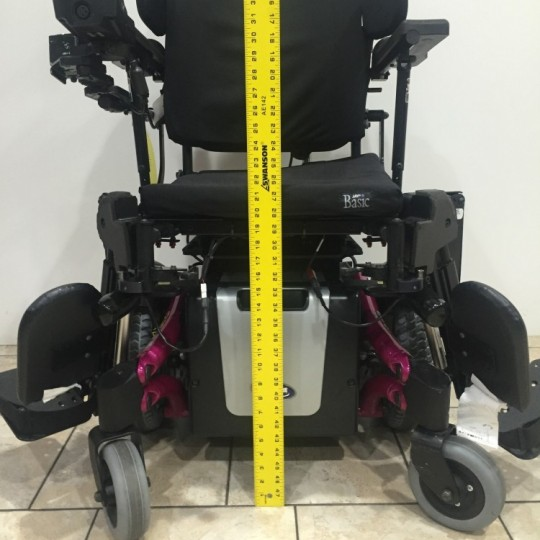 Measurement of Used Invacare TDX SP Power Wheelchair w/ Power Tilt & Recline