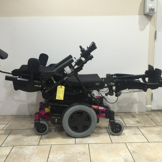 Laid Out Used Invacare TDX SP Power Wheelchair w/ Power Tilt & Recline
