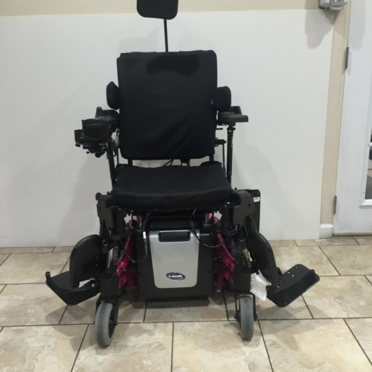 Front view of Used Invacare TDX SP Power Wheelchair w/ Power Tilt & Recline
