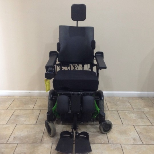 Front view of Used Invacare TDX SP Rehab Tilt Power Wheelchair