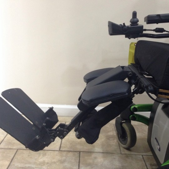 Footrest of Used Invacare TDX SP Rehab Tilt Power Wheelchair