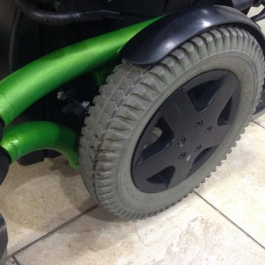 Wheel of Used Invacare TDX SP Rehab Tilt Power Wheelchair