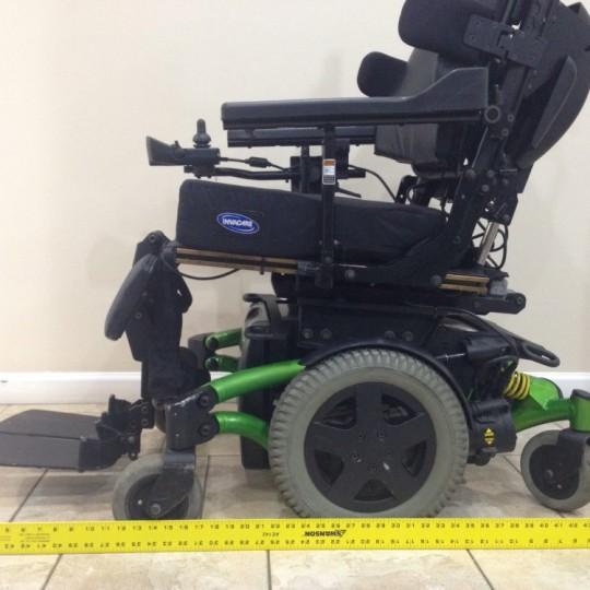 Measurement of Used Invacare TDX SP Rehab Tilt Power Wheelchair