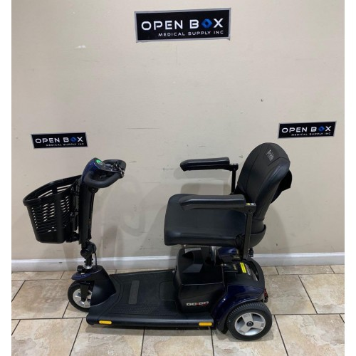 Side view of Used Pride Go-Go Sport 3 Wheel Mobility Scooter