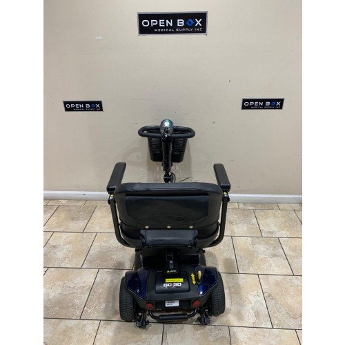Back view of Used Pride Go-Go Sport 3 Wheel Mobility Scooter