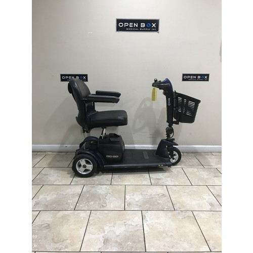 Side view of Used Pride Go-Go Sport 3-Wheel Mobility Scooter