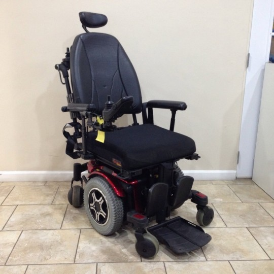 Used Quantum 600 Rehab Tilt Power Wheelchair