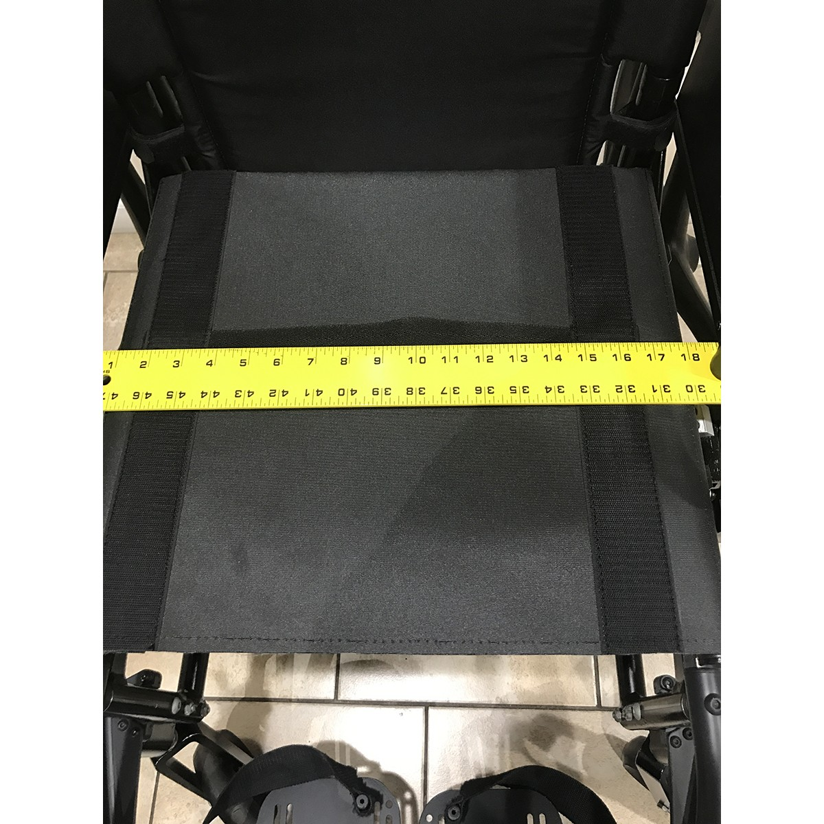 Measurement of Chair on Used Quickie 2 Folding Lightweight Wheelchair