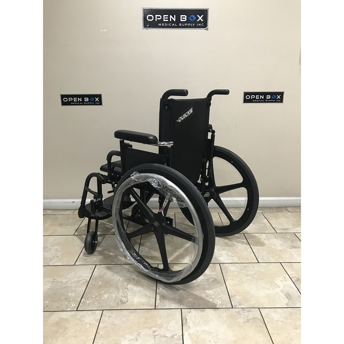 Back view of Used Quickie 2 Folding Lightweight Wheelchair