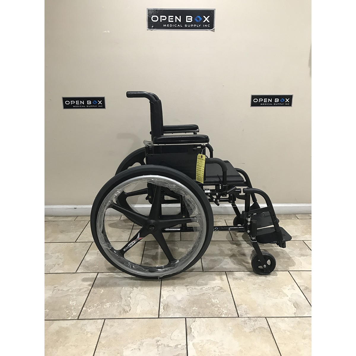 Side view of Used Quickie 2 Folding Lightweight Wheelchair