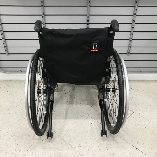 Back view of Used TiLite TX Folding Manual Wheelchair