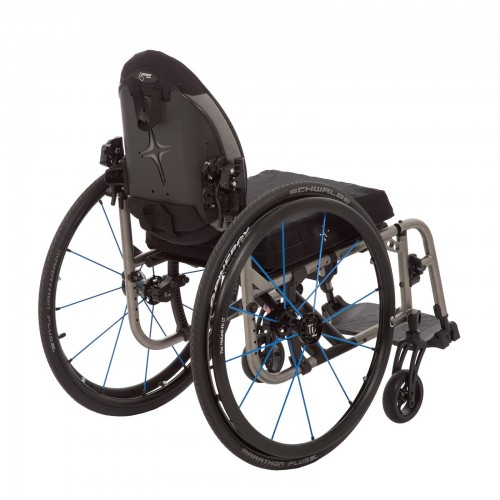 Back view of TiLite 2GX Series 2 Folding Titanium Wheelchair
