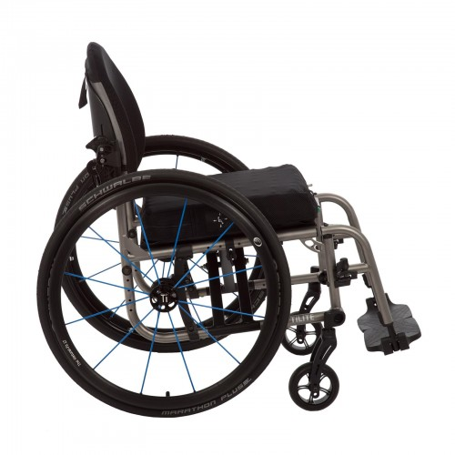 Side view of TiLite 2GX Series 2 Folding Titanium Wheelchair