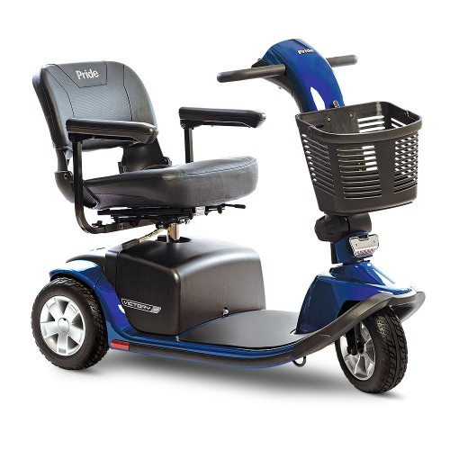 Blue 3-Wheel Standard Mobility Scooter Rental
