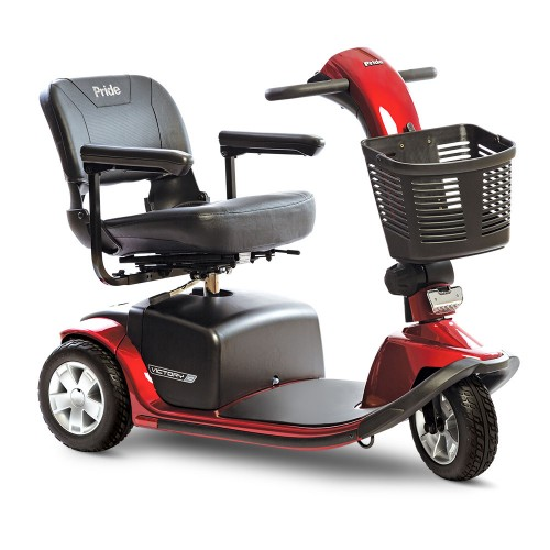 Red 3-Wheel Standard Mobility Scooter Rental