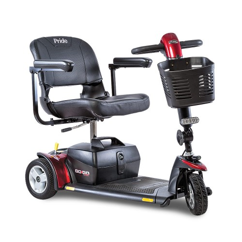 Red 3 Wheel Travel Mobility Scooter Rental