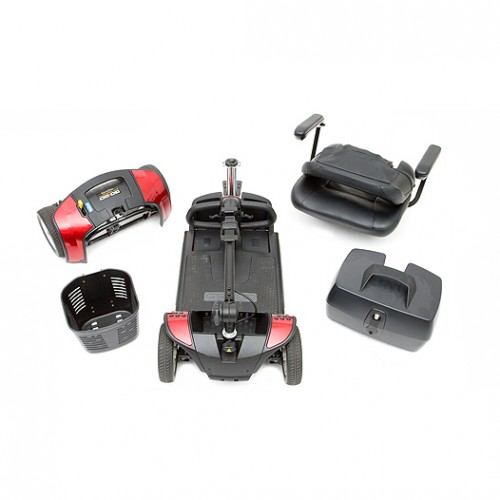 Disassembled Parts of 4-Wheel Travel Mobility Scooter Rental