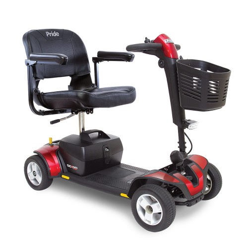 Red 4-Wheel Travel Mobility Scooter Rental