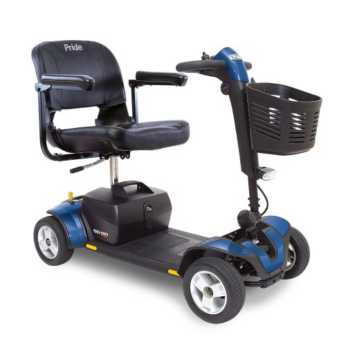 Blue 4-Wheel Travel Mobility Scooter Rental