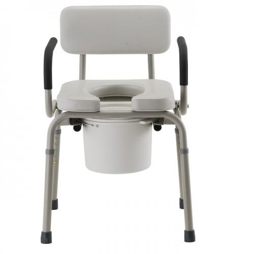 Nova Padded Drop-Arm Commode Chair