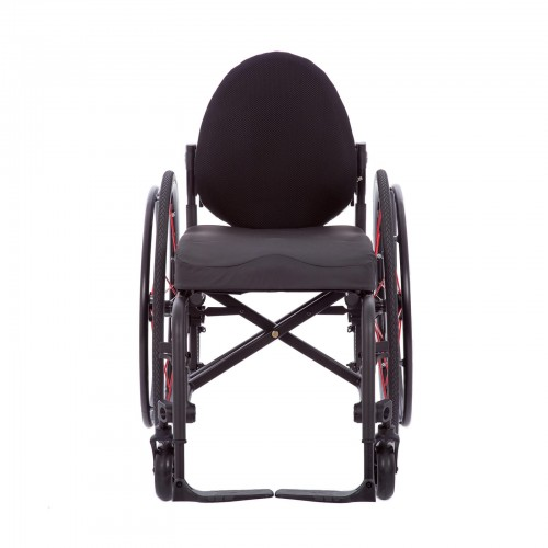 Front view of TiLite Aerox X Series 2 Folding Ultralight Wheelchair