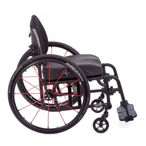 Side view of TiLite Aerox X Series 2 Folding Ultralight Wheelchair