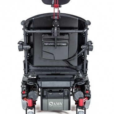 Back view of Alltrack HD Series Mid-Wheel Power Wheelchair