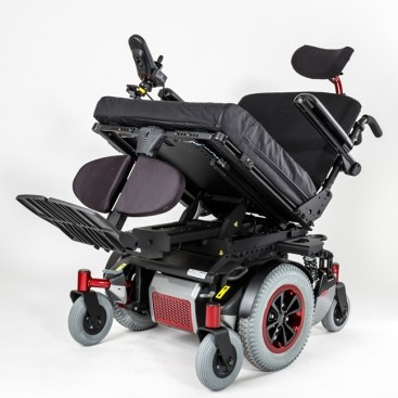 Tilted Alltrack HD Series Mid-Wheel Power Wheelchair