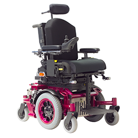 Pink AllTrack P Series Pediatric Power Wheelchair