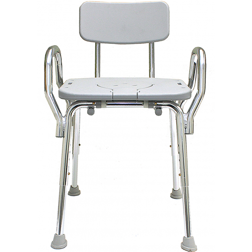 Eagle Health Shower Chair w/ Back, Arms, & Cut-Out Seat