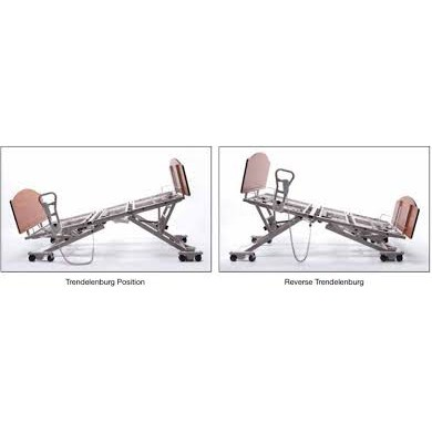 One Trendelenburg Position and One Reverse Trendelenburg Basic American Zenith 7100 Hi-Low Hospital Bed Package