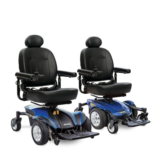 Pair of Blue Captain Seat Electric Wheelchair Rental